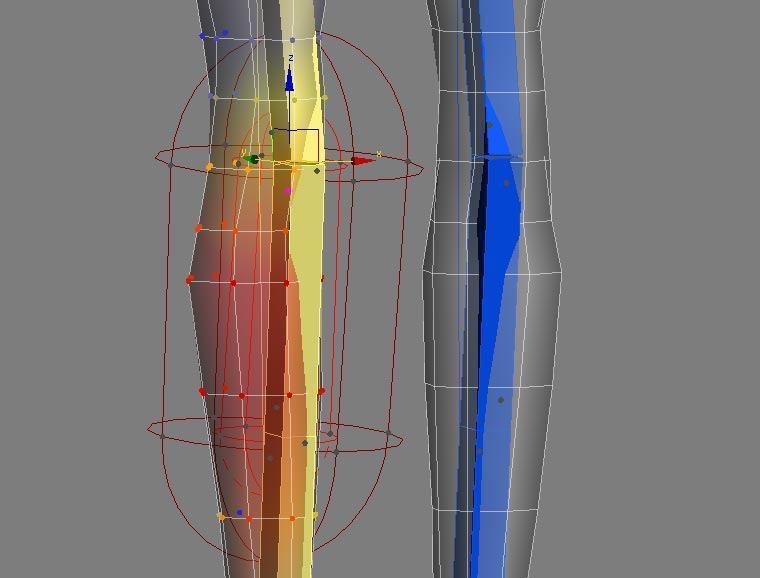 Энвелопы радиуса костей