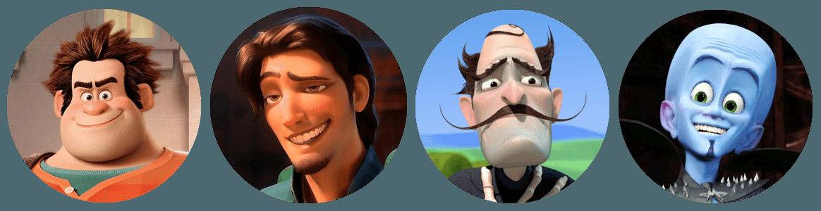 Как из сделать мультяшный персонаж