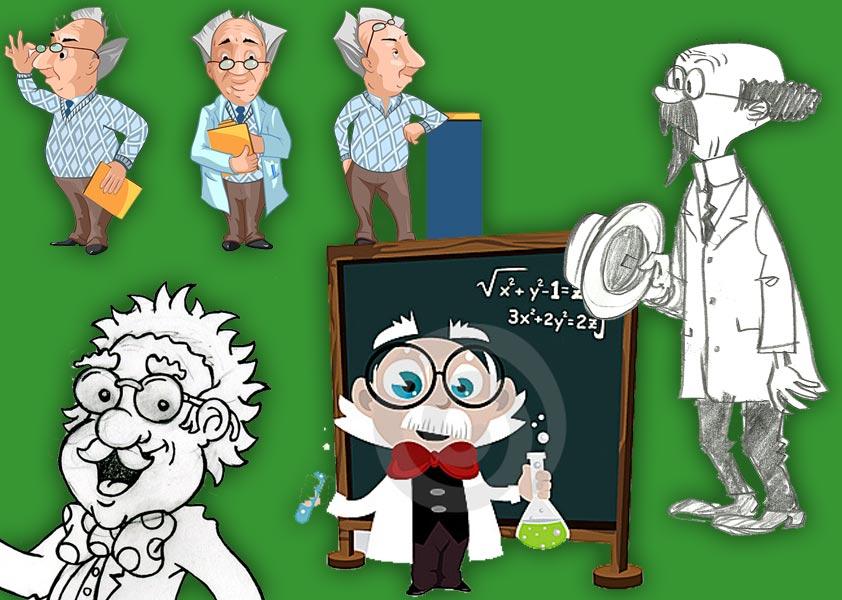 Эскиз профессора химии
