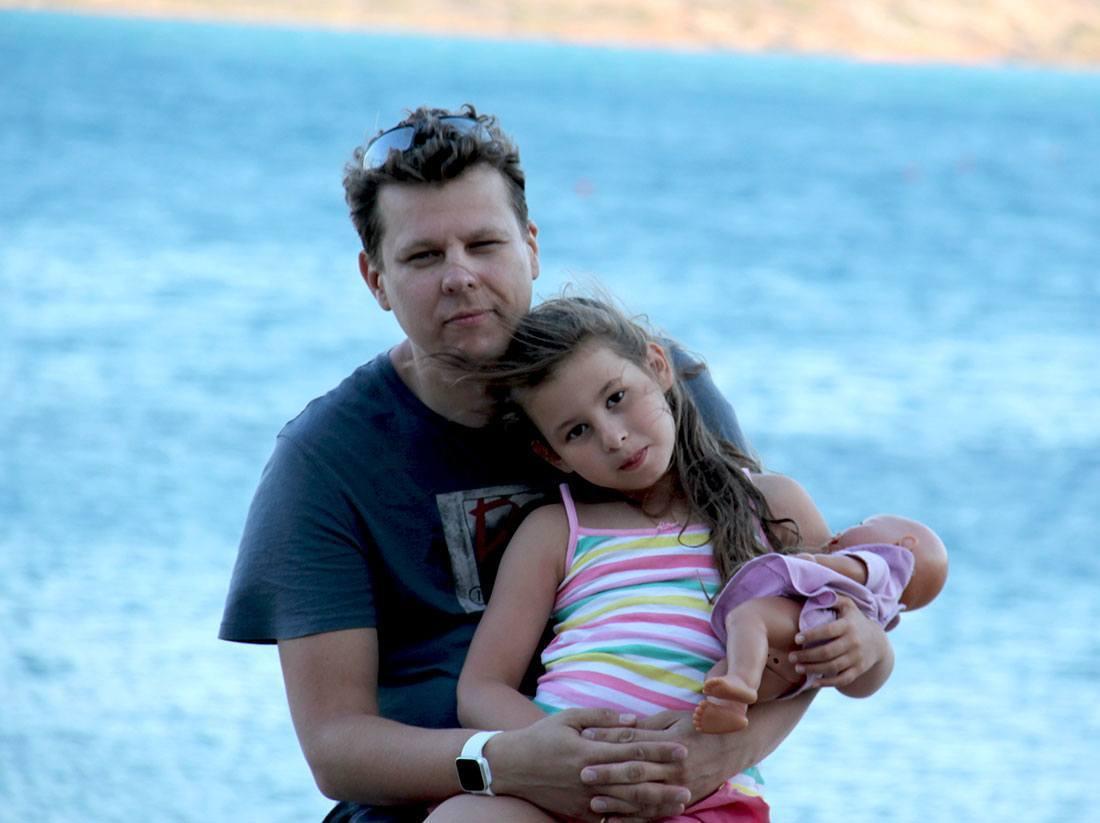 Михаил Маторин с дочкой